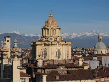 The church of San Lorenzo Turin Italy photo