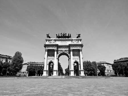 pace: Arco della Pace (Arch of Peace), Porta Sempione, Milan, Italy