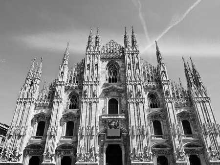 Duomo di Milano gothic cathedral church, Milan, Italy photo