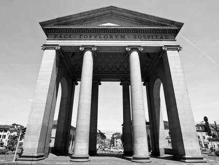ticinese: The Porta Ticinese door in Milan, Italy Stock Photo