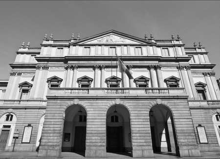 scala: Teatro alla Scala theatre in Milan, Italy Editorial