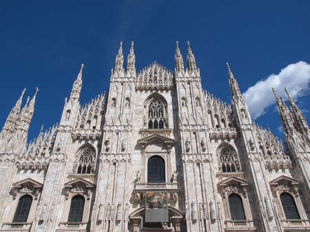 mil�n: Duomo de Mil�n Catedral iglesia g�tica, Mil�n, Italia Foto de archivo