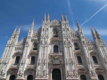 gothic architecture: Duomo di Milano gothic cathedral church, Milan, Italy