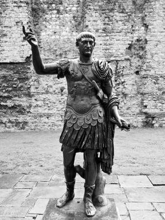 augustus: Ancient Roman monument of the Emperor Trajan London UK