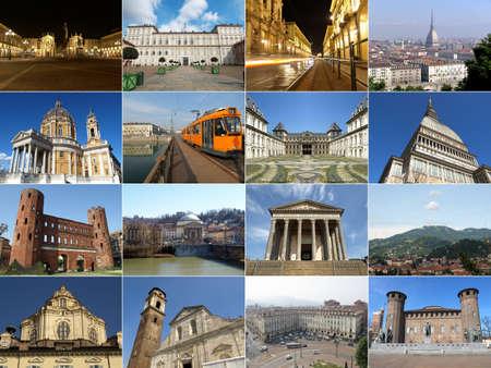 토리노 유명한 명소와 기념물 콜라주, 이탈리아 스톡 콘텐츠 - 10183942