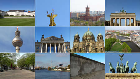 Famous landmarks and monuments collage - Berlin, Germany Deutschland