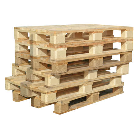 Pile of pallets isolated over white background Stock Photo - 10408107