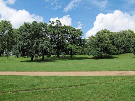 parks: The Kensington Gardens and Hide Park, London, UK