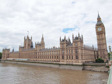 Houses of Parliament Westminster Palace London gothic architecture Stock Photo - 10535656