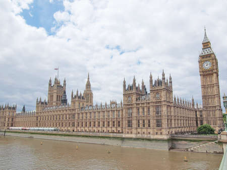 Houses of Parliament Westminster Palace London gothic architecture Stock Photo - 10540466