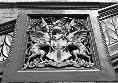 Coat of arms flag of the City of London, UK photo