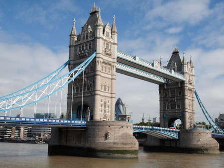 Tower Bridge on River Thames London UK photo