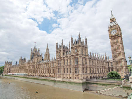 Houses of Parliament Westminster Palace London gothic architecture Stock Photo - 10555390
