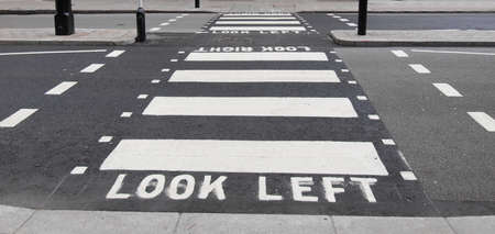 look at right: Look Left Look Right sign in a London street