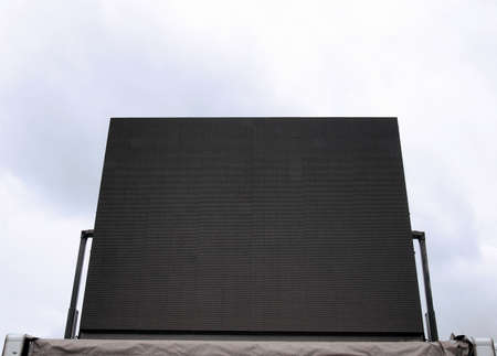 maxi: Large tv maxi screen colour display used for live gig event
