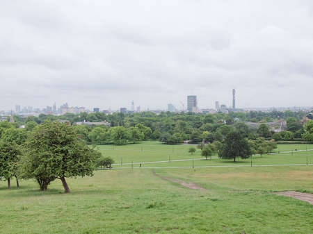Primrose Hill park in London England UK photo