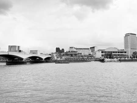 River Thames South Bank in London UK photo