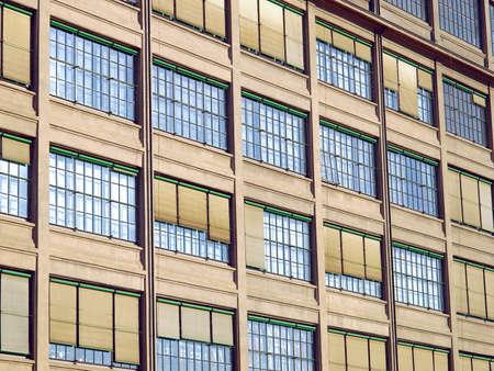 L'architettura industriale della vecchia Torino Lingotto respinto fabbrica di automobili a Torino, Italia Archivio Fotografico