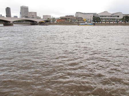 Panoramic view of River Thames London UK