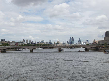Panoramic view of River Thames London UK photo