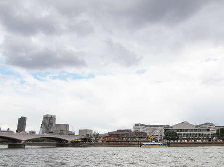 Panoramic view of River Thames London UK photo