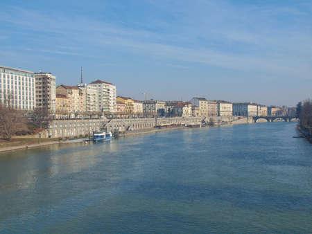 po: View of river Po, Turin, Italy