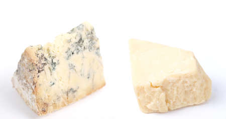 Blue Stilton and Cheddar cheese, traditional fine British food from the English Midlands Stock Photo - 12792597
