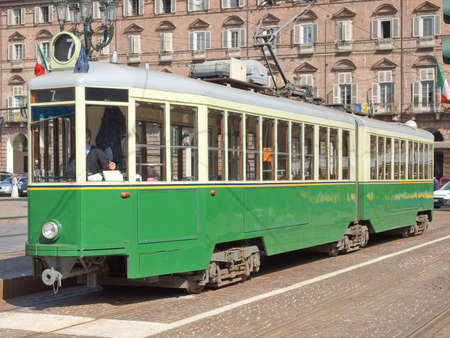 tramway: A vintage historical tramway in Turin, Italy