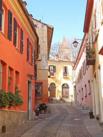 rivoli: View of the old town centre in Rivoli, Turin, Italy Editorial