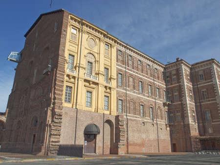 rivoli: Castello di Rivoli castle near Turin, Italy Stock Photo