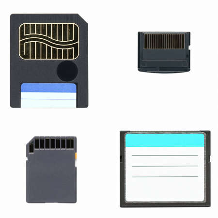 Different types of digital memory cards for cameras photo