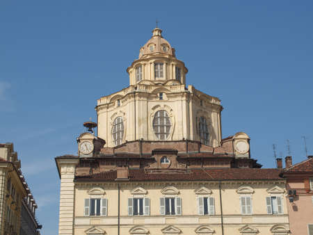 The church of San Lorenzo Turin Italy photo