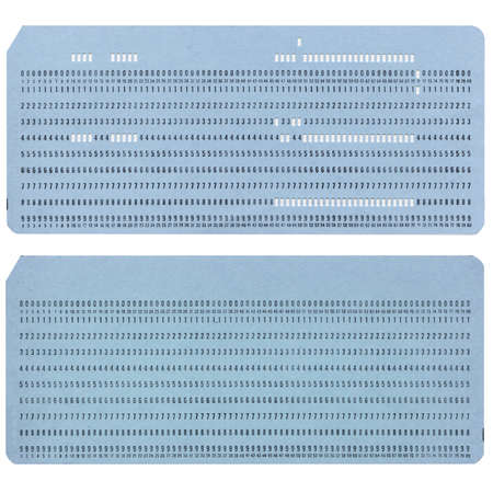 Vintage punched card for computer data storage Stock Photo - 13656704
