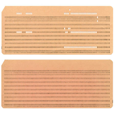 Vintage punched card for computer data storage Stock Photo - 13711195
