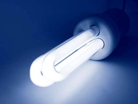 Compact fluorescent light bulb ecological low carbon photo