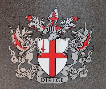 city coat of arms: Coat of arms flag of the City of London, UK Stock Photo