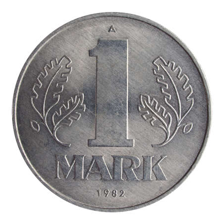 german mark: 1 Mark coin from the DDR (East Germany) - Note: no more in use since german reunification in 1990