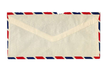 Letter or small packet envelope isolated over white photo