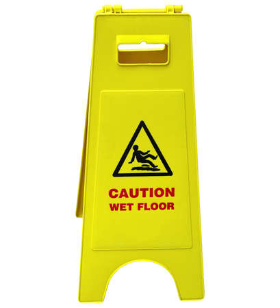 Caution Slippery Surface Sign Stock Photos & Pictures. Royalty ...