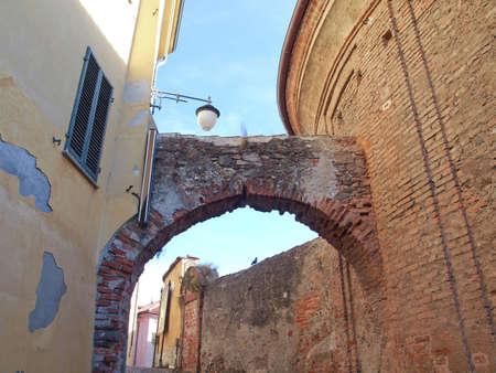 rivoli: View of the old town centre in Rivoli, Turin, Italy Stock Photo