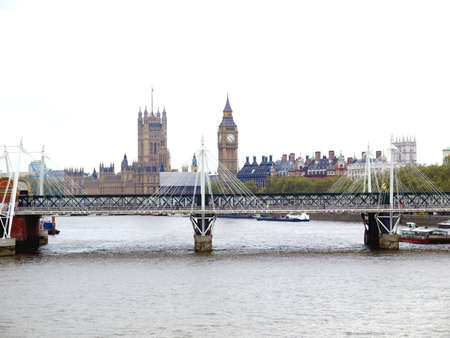 Panoramic view of River Thames, London, UK photo