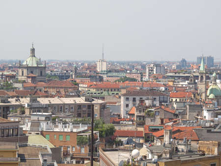 View of the city of Milan Milano in Italy Stock Photo - 14217422