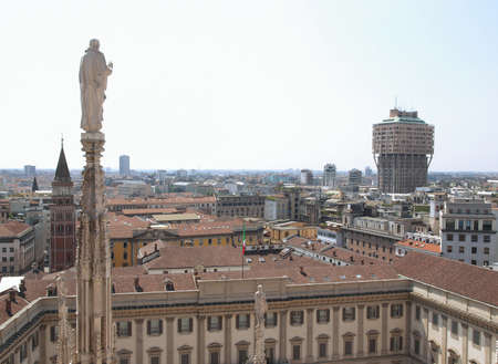 View of the city of Milan Milano in Italy photo