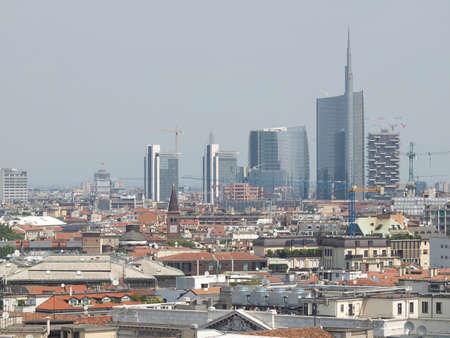Tekintettel a város Milan Milano Olaszországban Stock fotó