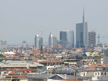 View of the city of Milan Milano in Italy