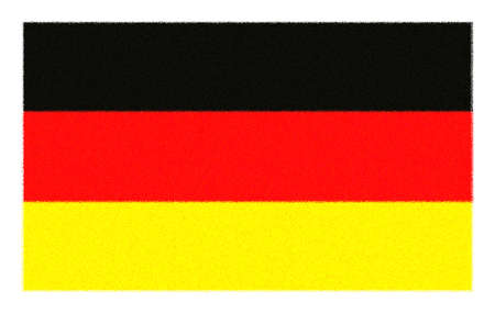 sprayed: The national flag of Germany - sprayed Stock Photo