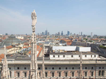 View of the city of Milan Milano in Italy Stock Photo - 14510794