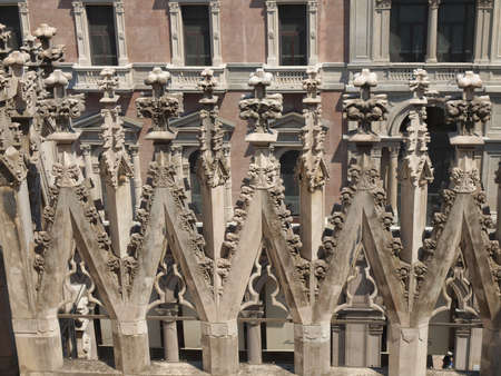 milano: Duomo di Milano gothic cathedral church, Milan, Italy