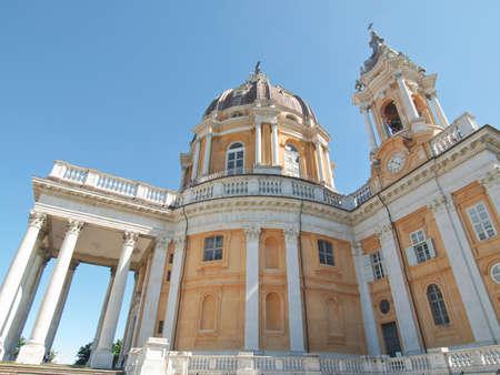 di: Basilica di Superga ancient baroque abbey in Turin, Italy