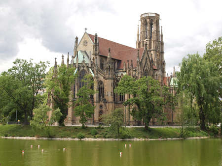 The Johanneskirche gothic church in Stuttgart, Germany Stock Photo - 14553248